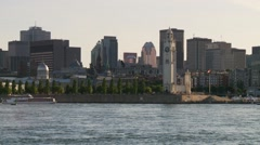 Old Port Montreal 1. Quebec canada Stock Footage