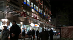 Müller Drogerie on Königstraße on Christmas in Nuremberg Stock Footage