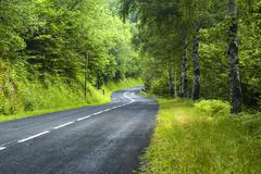 Road of Pirineos (Catalunya, Spain) - stock photo
