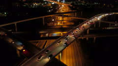 Atlanta Aerial over Spaghetti Junction freeways Stock Footage
