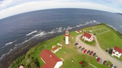 Cap de Madelaine lighthouse, Gaspesie, Saint Lawrence River, Quebec, 2 Stock Footage