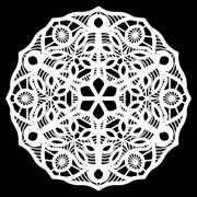 Lace round paper doily, doily to decorate the cake, doily under the plates Stock Illustration
