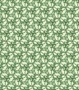 Floral Fine Seamless Pattern - stock illustration