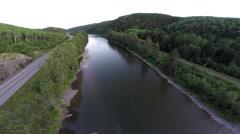 Matapedia river 3 Gaspe, Quebec, Canada Stock Footage