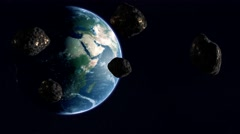 Five Asteroid To Earth UHD Stock Footage