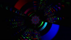 VJ Abstract Dancing Pipes 2 Stock Footage