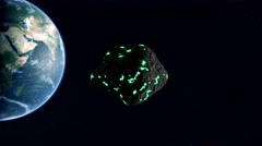 One Radioactive Asteroid To Earth UHD - stock footage