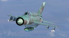 Mikoyan-Gurevich MiG-21 Fishbed Stock Footage