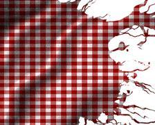 Red picnic cloth Stock Illustration