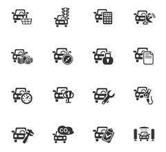 car service icon set - stock illustration