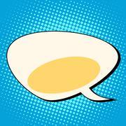 cloud comic bubble retro background for text - stock illustration