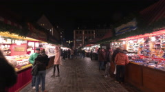 Visiting the Christmas market in Nuremberg Stock Footage