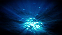 light underwater in a azure lagune lagoon - stock footage