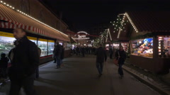 Street stalls at the Children's Christmas Market in Nuremberg Stock Footage