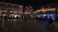 Mini Ferris wheel at the Children's Christmas Market in Nuremberg Stock Footage