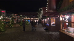 Stalls and a steam railway at the Children's Christmas Market, Nuremberg - stock footage