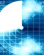 Blue radar screen Stock Illustration