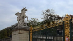 Tuileries Gardens in Paris. France. Stock Footage