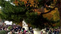 Tuileries Gardens in Paris. France. Stock Footage
