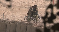 War in Afghanistan - U.S. Soldier pats down Afghan Men Arkistovideo
