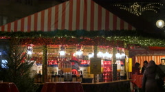 Stock Video Footage of Walking by a punch stall at the Christmas market in Nuremberg