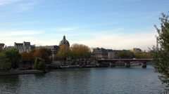 The River Seine in Paris. France. Stock Footage