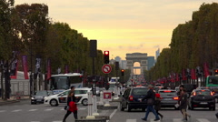 Arc de Triomphe in Paris. France. - stock footage