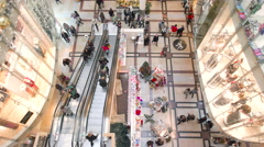 Editorial - People on christmass shopping spree Stock Footage