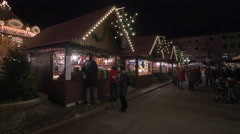 Families visiting the Children's Christmas Market in Nuremberg Stock Footage