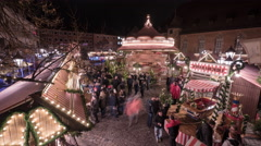 The Children's Christmas Market in Nuremberg, Time lapse Stock Footage