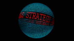 Business strategy spinning globe - stock footage