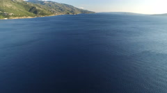 Aerial shot of the open sea - endless Adriatic sea, Croatia Stock Footage