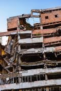 Ruins of Ministry of Defense Building from NATO Bombing - Belgrade Serbia - stock photo