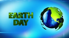 Earth globe turn around loop, spinning  world green energy - stock footage
