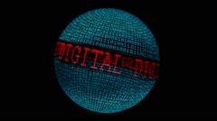 Digital banking spinning globe Stock Footage