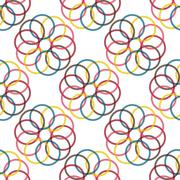 Seamless Colorful Abstract Pattern from Repetitive Circles Stock Illustration