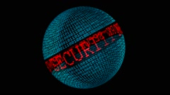 Network security spinning globe Stock Footage