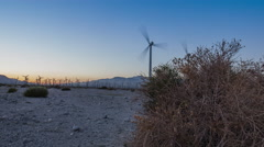 Windmill Motion Timelapse at Sunset Stock Footage