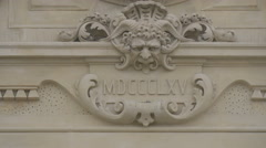 Decorations on the facade of Gare de Nice Ville Stock Footage