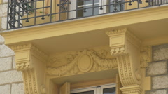 Close up of a decorated building in Nice Stock Footage