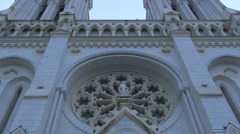 Low angle view of the Notre-Dame de Nice Basilica in the centre of Nice Stock Footage