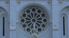 The rose window of Notre-Dame de Nice Basilica in the centre of Nice Stock Footage
