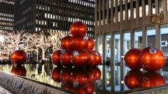 Holiday ornaments, Christmas in New York City Stock Footage