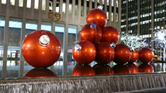 Holidays in New York City, Christmas ornaments Stock Footage