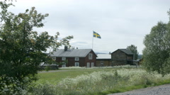 Idyllic and Traditional Swedish Summer Home. Handheld Stock Footage