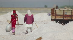 Salt mining Stock Footage