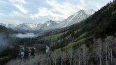 Rocky Mountains near to famous Aspen, Colorado Stock Footage