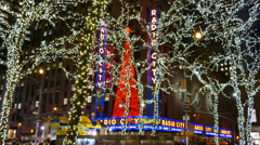 Radio City Music Hall, New York City Holidays Stock Footage