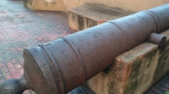 Old cannon in zona colonial, santo domingo, dominican republic Stock Footage