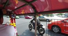 Scenic Riding in Tuk Tuk POV Bangkok Thailand 4k 2 Stock Footage